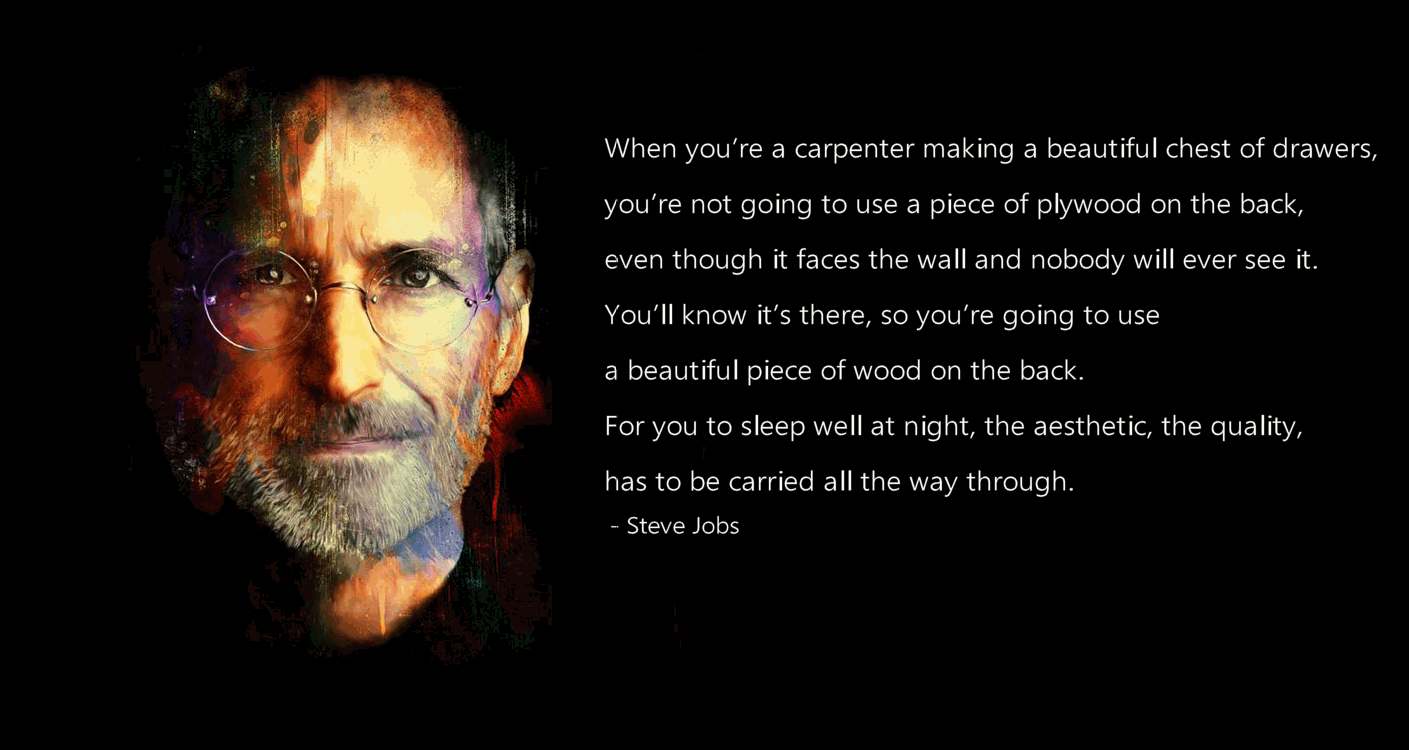 Steve Jobs quote on quality